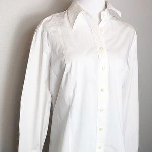 Tommy Hilfiger white button front blouse. Size XXL